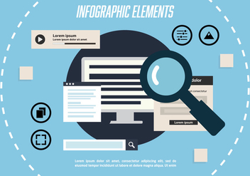 Free Infographic Elements Vector Background - Free vector #348331
