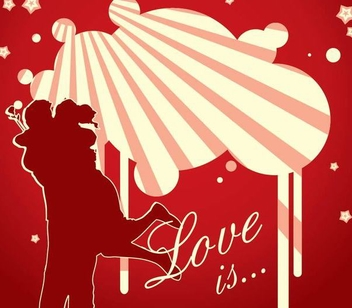 Romantic Couple Valentine Background - vector gratuit #348541