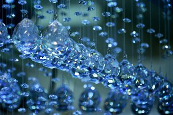 Beautiful blue crystals hanging - image #348571 gratis
