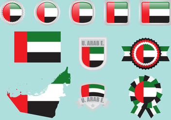 United Arab Emirates Flags - vector gratuit #348691