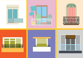 Balcony Vector Pack - Free vector #348711