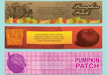 Pumpkin Patch Banners - Free vector #348741