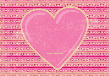 Vintage Valentine's Day Background - vector gratuit #348751