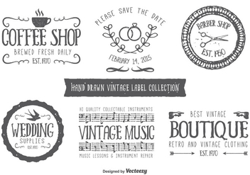 Hand Drawn Style Typographic Labels - vector #348761 gratis