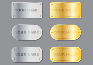 Metal Name Plate - vector gratuit #348791
