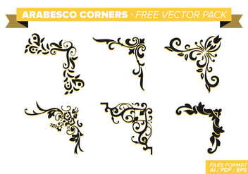 Arabesco Corners Free Vector Pack - Kostenloses vector #348811