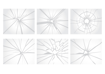 Cracked Glass Vectors - vector gratuit #348851