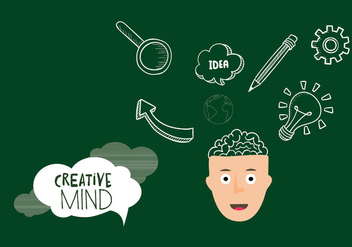 Creative Concept Mind Vector - бесплатный vector #348961