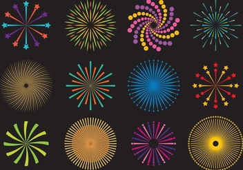 Firecrakers And Fireworks Vectors - vector gratuit #348991