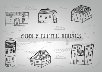 Free Hand Drawn Goofy Houses Vector Background - vector gratuit #349051