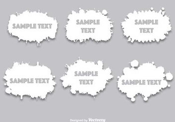 White paint splatters - Free vector #349061