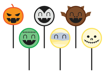 Halloween Cake Pops - Free vector #349101