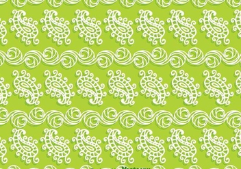 Paisley Green Background - Free vector #349211