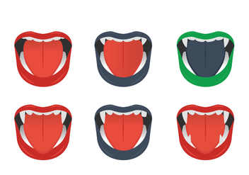 Dracula Teeth - Free vector #349371