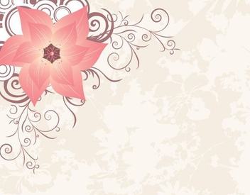 Flower Circles Corner Decoration - Free vector #349421