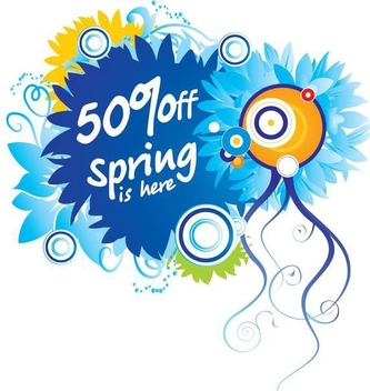 Floral Colorful Spring Sale Discount - Free vector #349471