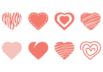 Heart Icon Collection - vector gratuit #349511