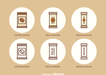 Free Flat Outline Sachet Vector Icons - бесплатный vector #349561
