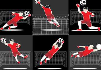 Cool Goal Keeper Vector - Free vector #349591