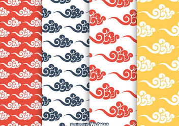 Free Chinese Clouds Vector Pattern - бесплатный vector #349601