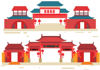 China Town Vector - vector gratuit #349611