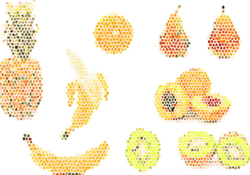 Fruit pixel Illustration - Free vector #349631