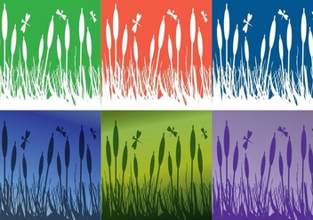 Reeds Background Colors - vector #349671 gratis
