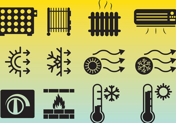 Heating Icons Vector - Free vector #349691