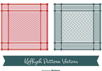 Keffiyeh Vector Patterns - vector gratuit #349701