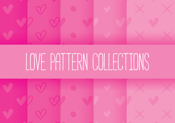 Love Pattern Collections - Kostenloses vector #349731