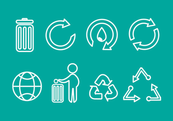 Free Trash Recycle Vector Icons - vector gratuit #349851