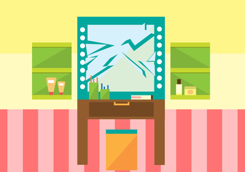 Free Mirror Cracked Vector Illustration - vector gratuit #349881