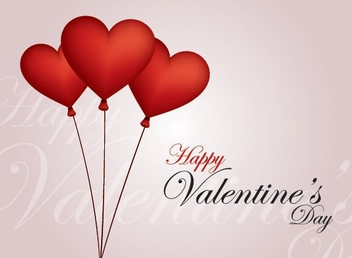 Balloon Hearts Valentine Card - vector gratuit #349891