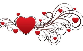 Valentine Swirls Heart Decoration - vector gratuit #349901