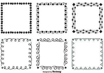 Hand Drawn Style Vector Frames - Free vector #349991