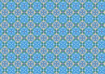 Blue Floral Mosaic Pattern - Kostenloses vector #350011