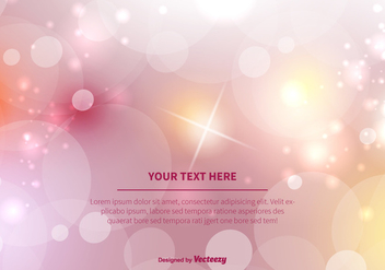 Pink Bokeh Vector Background Illustration - vector gratuit #350031