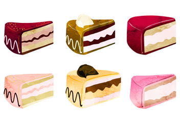 Vector Cake Pieces - vector gratuit #350041