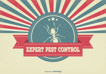 Retro Pest Control Illustration - vector gratuit #350121