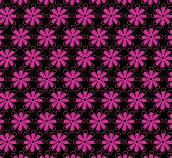 Classy Seamless Pink Flower Pattern - Free vector #350181