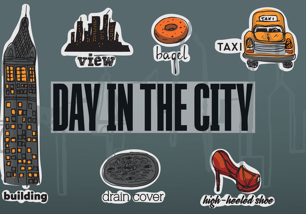New Free Vector City Elements - Free vector #350341
