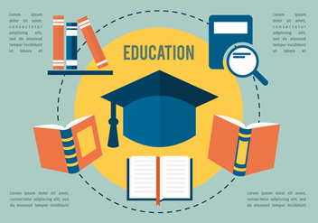 Free Flat Education Vector Collection - vector gratuit #350351
