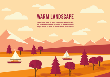 Free Summer Landscape Vector Background - Kostenloses vector #350371