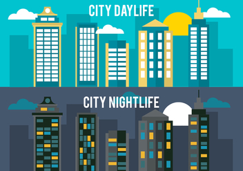 Free Flat City Life Vector Background - Kostenloses vector #350381