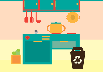 Free Kitchen Vector Illustration - vector #350541 gratis