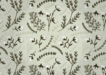 Vector Cotton Plant Pattern - бесплатный vector #350561