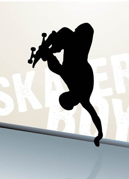Skater Boy Jumping Silhouette - Free vector #350571