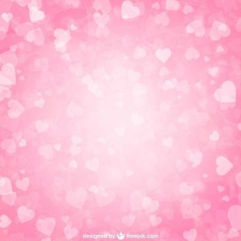 Fluorescent Valentine Hearts Pink Background - vector gratuit #350581