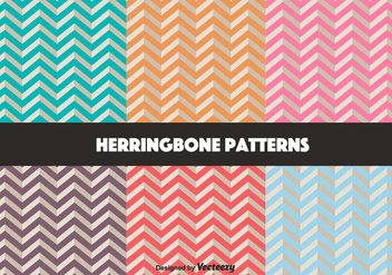Vector Set Of Retro Herringbone Pattern - Kostenloses vector #350611