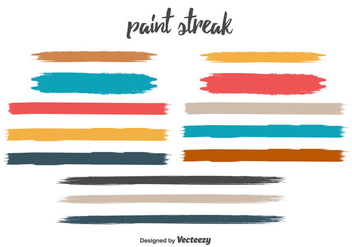 Free Paint Streak Vector Set - бесплатный vector #350671